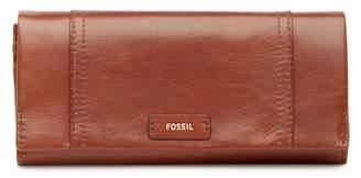 Fossil Ellist Foldover Leather Wallet