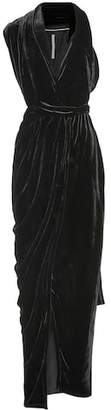 Rick Owens Limo velvet maxi dress