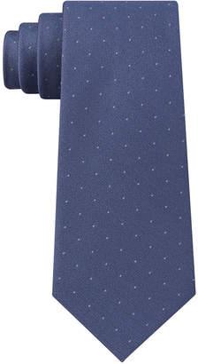 Calvin Klein Men Sable Slim Pindot Silk Tie