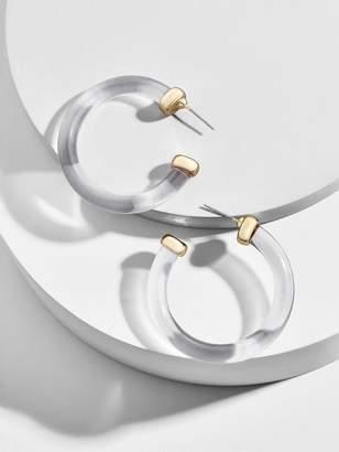BaubleBar Mini Leia Resin Hoop Earrings