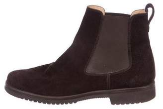 Gravati Suede Chelsea Round-Toe Ankle Boots