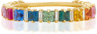 Suzanne Kalan 18K Gold Sapphire And Diamond Ring