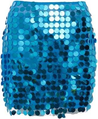 Quiz Blue Sequin Embellished Mini Skirt