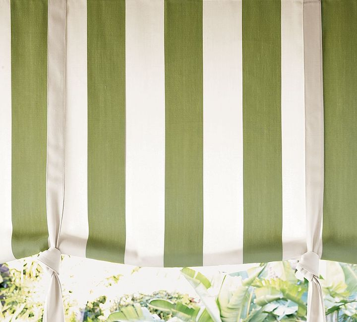 Outdoor Awning Stripe Drape Shade