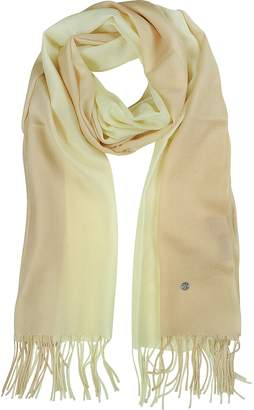 Mila Schon Gradient Beige/Cream Wool and Cashmere Stole