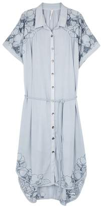 Free People Cut It Out Eyelet-embroidered Dress