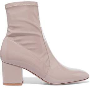 Valentino Faux Patent-Leather Ankle Boots