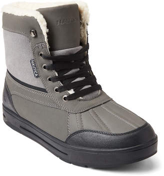 Nautica Grey Lockview Lace-Up Boots