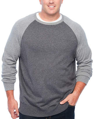 Co THE FOUNDRY SUPPLY The Foundry Big & Tall Supply Crew Neck Long Sleeve Pullover Sweater - Big and Tall
