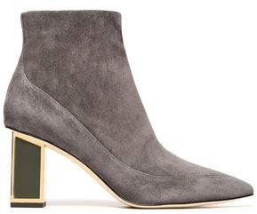Diane von Furstenberg Cainta Two-Tone Leather Ankle Boots