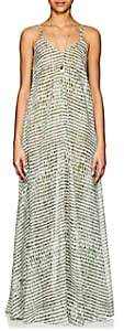 On The Island Women's Tromelin Abstract-Print Cotton Maxi Dress - Grn. Pat.