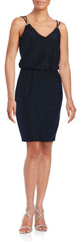 Calvin KleinCalvin Klein Glitter Blouson Cocktail Dress