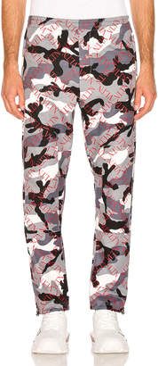 Valentino Trousers in Grey & Red Camo | FWRD