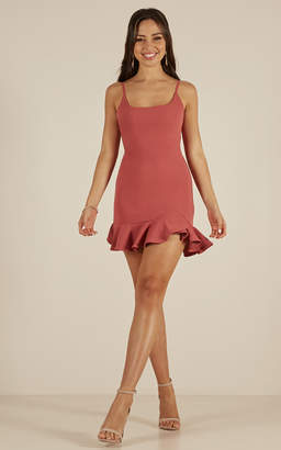 Showpo Way Out dress in rose