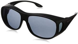 Solar Shield Fits Over Sunglasses Classic Elm Square (L) Blk/Gry