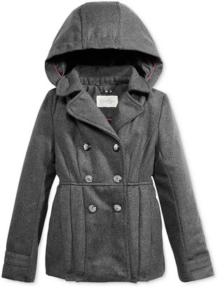 Jessica Simpson Hooded Double-Breasted Coat, Toddler & Little Girls (2T-6X), Big Girls (7-16) $95 thestylecure.com