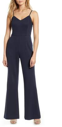 1 STATE 1.STATE Pinstripe Wide Leg Jumpsuit
