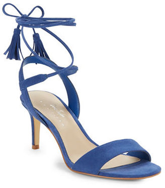 424 Fifth Giovanna Suede Sandals $99 thestylecure.com