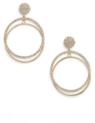 Women's Kate Spade New York Ring It Up Drop Hoop Earrings $98 thestylecure.com