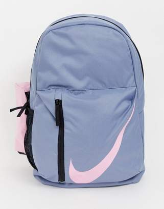 Nike Grey With Large Pink Swoosh Logo Backpack