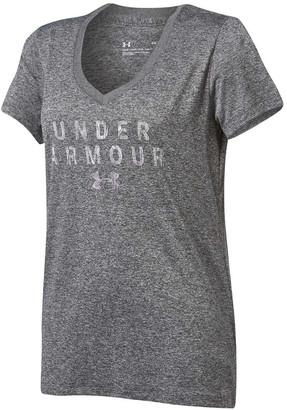 Under Armour Womens Tech V Neck Graphic Tee
