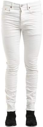 Purple Slim Fit Washed Effect Denim Jeans