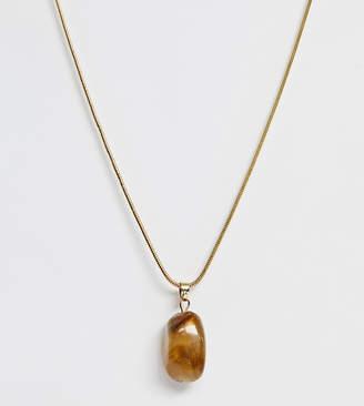 Glamorous Exclusive tigers eye stone pendant necklace