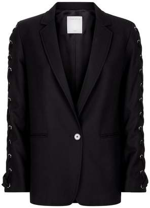 Sandro Lace Up Sleeves Blazer