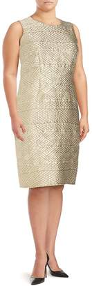 Max Mara Women's Roundneck Geometric-Motif Sheath Dress