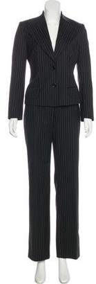 Dolce & Gabbana Peak-Lapel Pinstripe Pantsuit