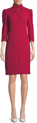 Nanette Lepore Mistress Mock-Neck Dress w/ Button Front