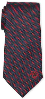 Versace Navy & Red Dotted Silk Tie
