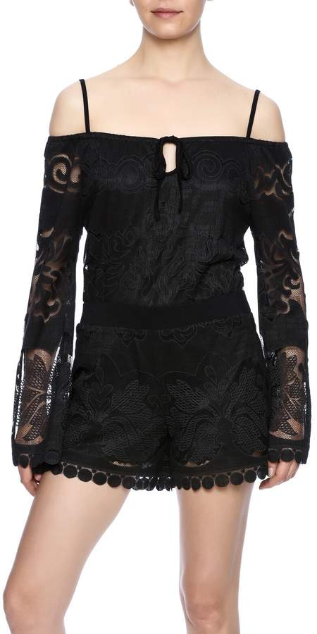 Union of Angels Black Lace Tunic