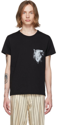Ann Demeulemeester Black Horse T-Shirt