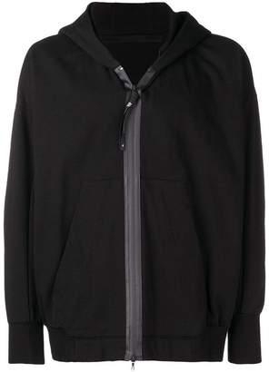 Julius panelled stripe zip hoodie