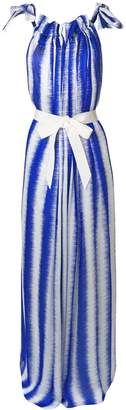 Maison Rabih Kayrouz striped tie waist maxi dress