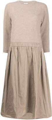 Peserico 3/4 sleeve contrast dress