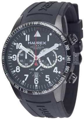 Haurex Italy Men's 3N300UNN Arrow Chronograph Black Dial Watch