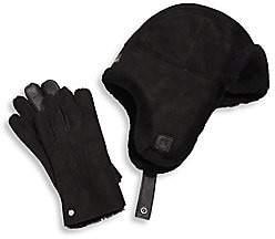 UGG Men's Shearling Hat & Smart Glove Set