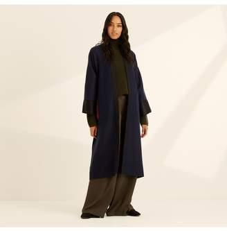 Amanda Wakeley Reversible Kimono Stripe Coat