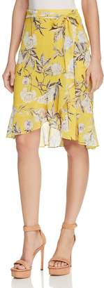 Lucy Paris Floral Print Faux-Wrap Skirt