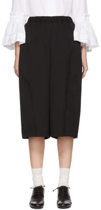 Comme des Garcons Black Side Panel Wide-Leg Trousers
