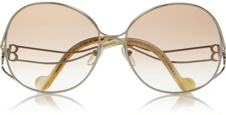 Balenciaga Round-frame metal sunglasses