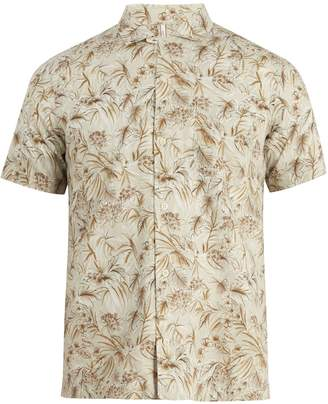 Glanshirt Jake floral-print cotton shirt