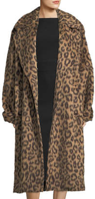 Michael Kors Leopard-Print Trenchcoat