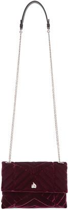 Lanvin Burgundy Quilted Velvet Sugar Bag $1,395 thestylecure.com