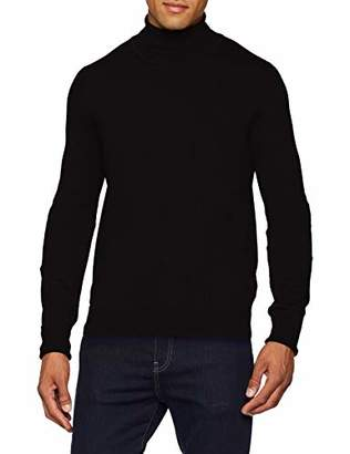 Ben Sherman Men's Fine Gauge Roll Neck Jumper (Black 290), (Manufacturer Size:)