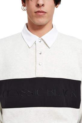 Alexander Wang Vintage Fleece Long Sleeve Polo Shirt