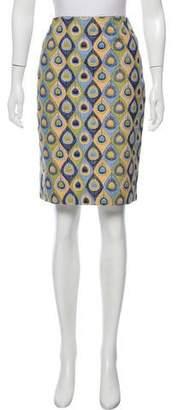 Rena Lange Patterned Knee-Length Skirt