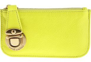 Marc Jacobs Day Flo Coin Pouch- ACID YELLOW